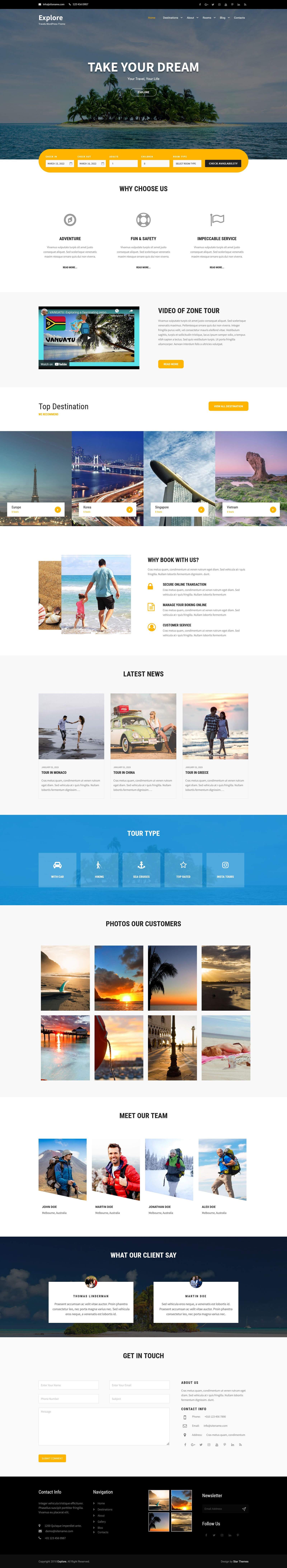 Travel WordPress Theme
